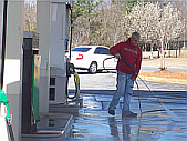 Pressure washing Stockbridge gas stations